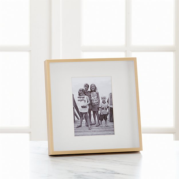 Brushed Brass 5x7 Frame Reviews Crate And Barrel