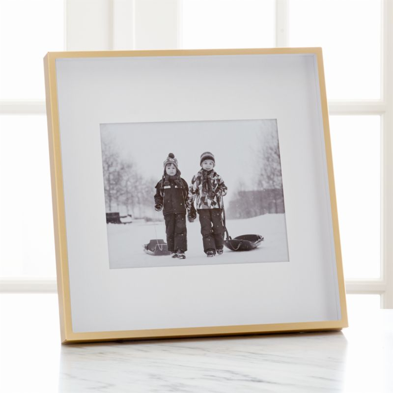 Brushed Brass 8x10 Frame + Reviews | Crate and Barrel