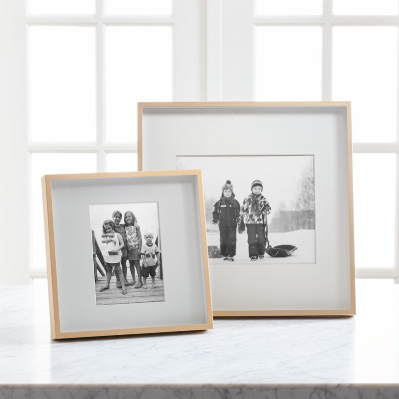 Brushed Brass Picture Frames | Crate and Barrel