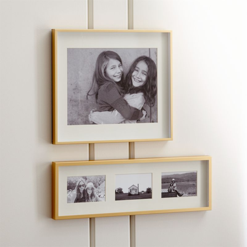 Wall Picture Frames brushed brass wall frames | crate and barrel