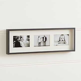 Brushed Gunmetal 3-4x6 Wall Frame