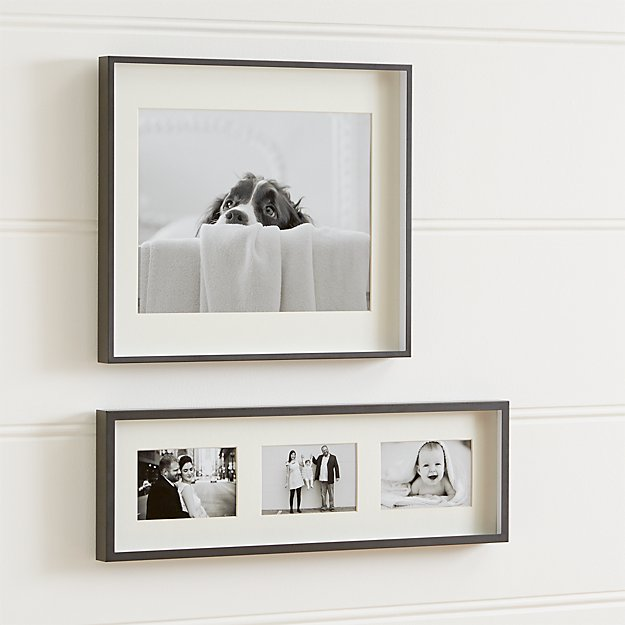 Brushed gunmetal wall frames crate and barrel - Interiors by design picture frames ...