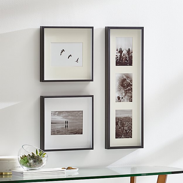 Brushed Gunmetal Picture Frame Gallery Set Of 3 Reviews Crate And Barrel