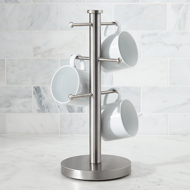 Brushed Stainless Mug Tree