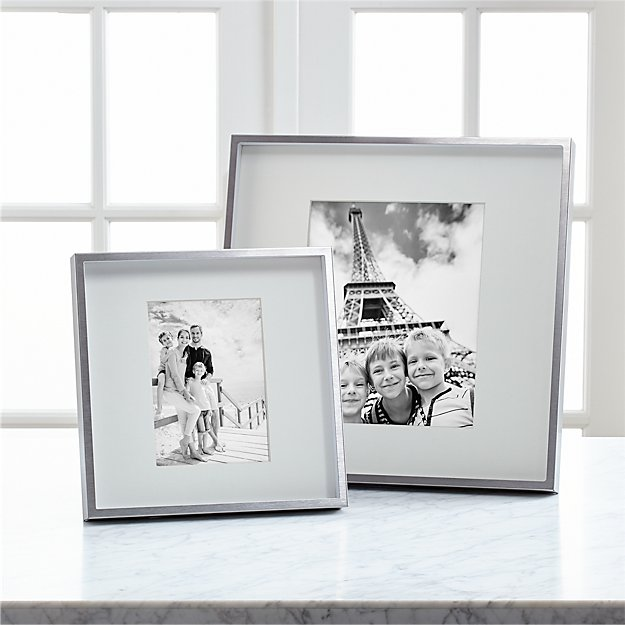 Brushed Silver Picture Frames - Image 1 of 11