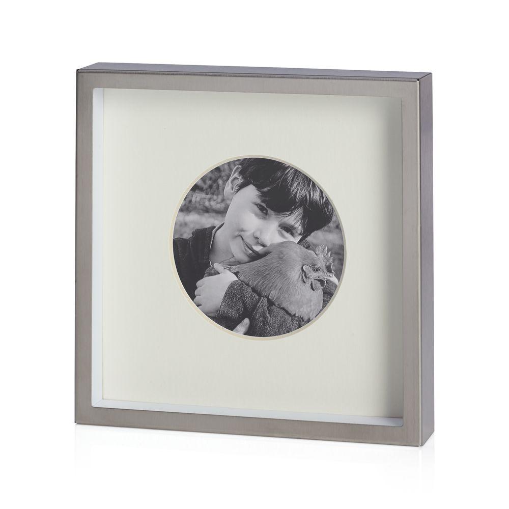 Brushed Silver Frame 3.25