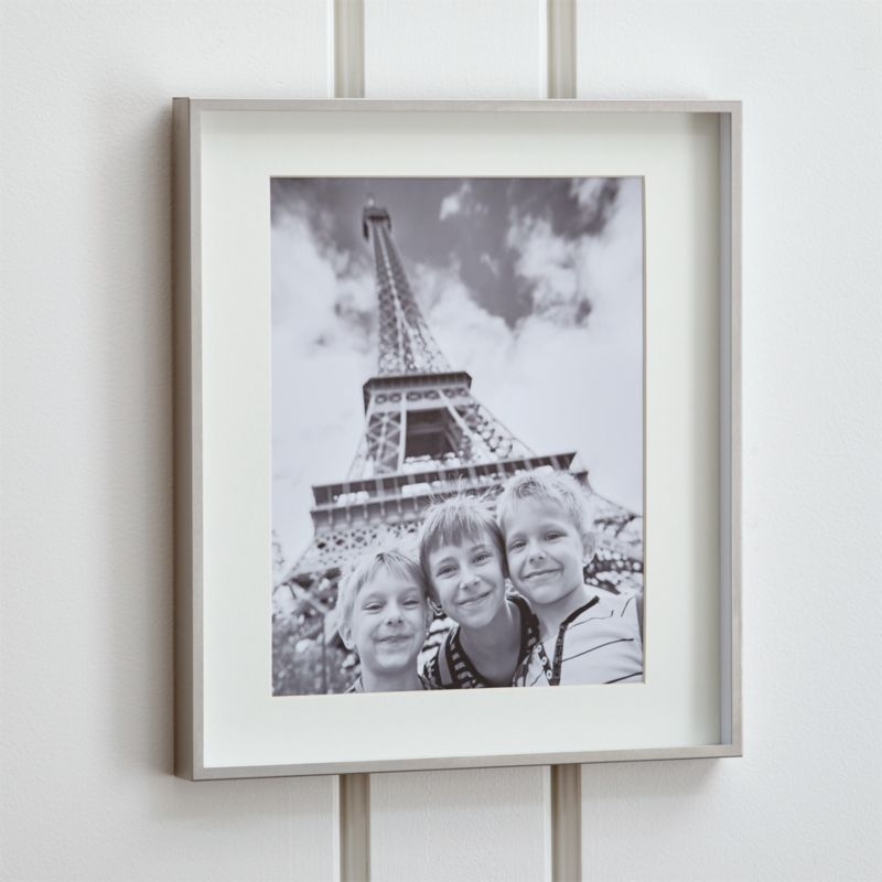Brushed Silver 11x14 Picture Frame Reviews Crate And Barrel