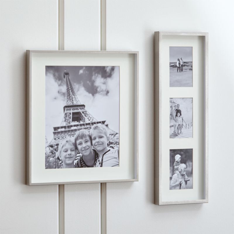 Wall Art Silver Frames : Brushed silver wall frames crate and barrel