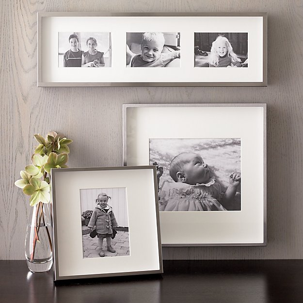 Brushed Silver Picture Frames | Crate and Barrel