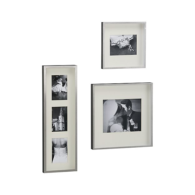 Brushed Silver Wall Frames Crate And Barrel