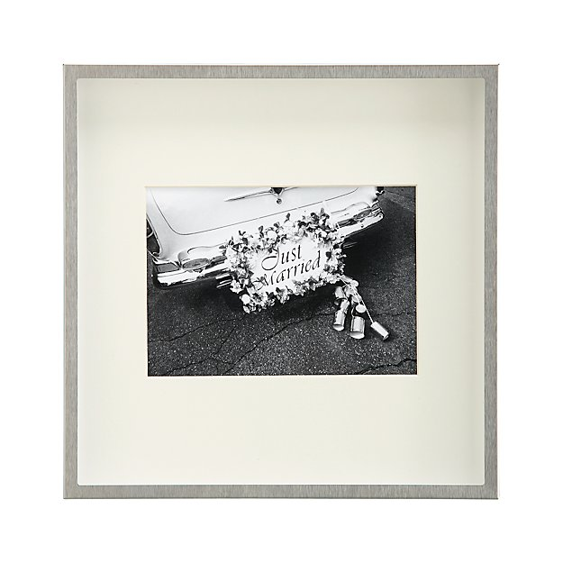Brushed Silver 5x7 Wall Frame - Image 1 of 11