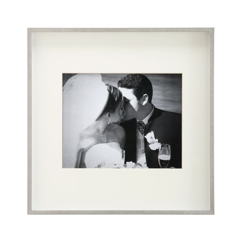 Brushed Silver 8x10 Wall Frame + Reviews | Crate and Barrel