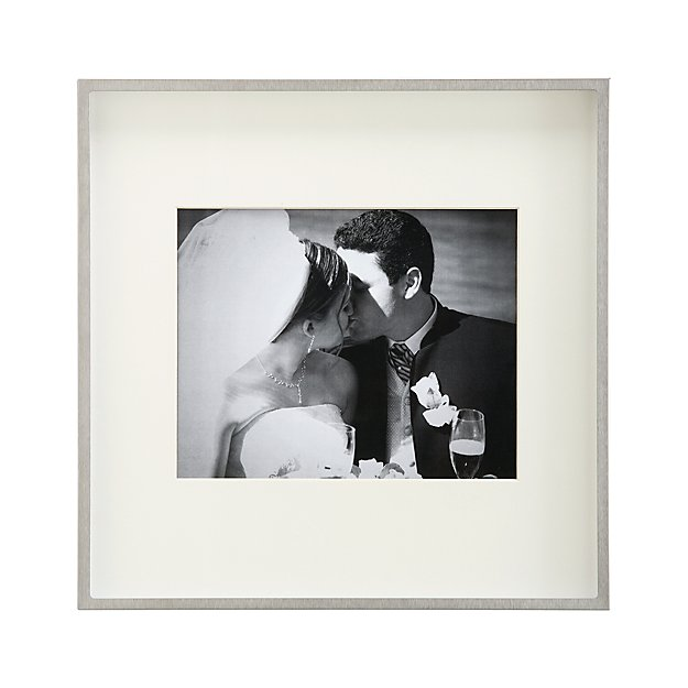 Wall Art Silver Frames : Brushed silver wall frame crate and barrel