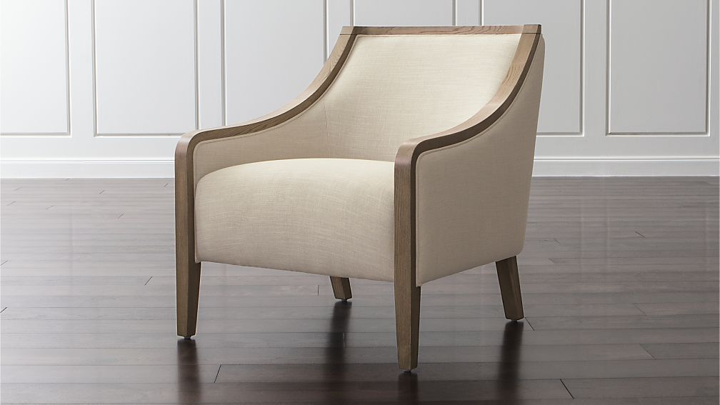 bryn linen chair in chairs reviews crate and barrel