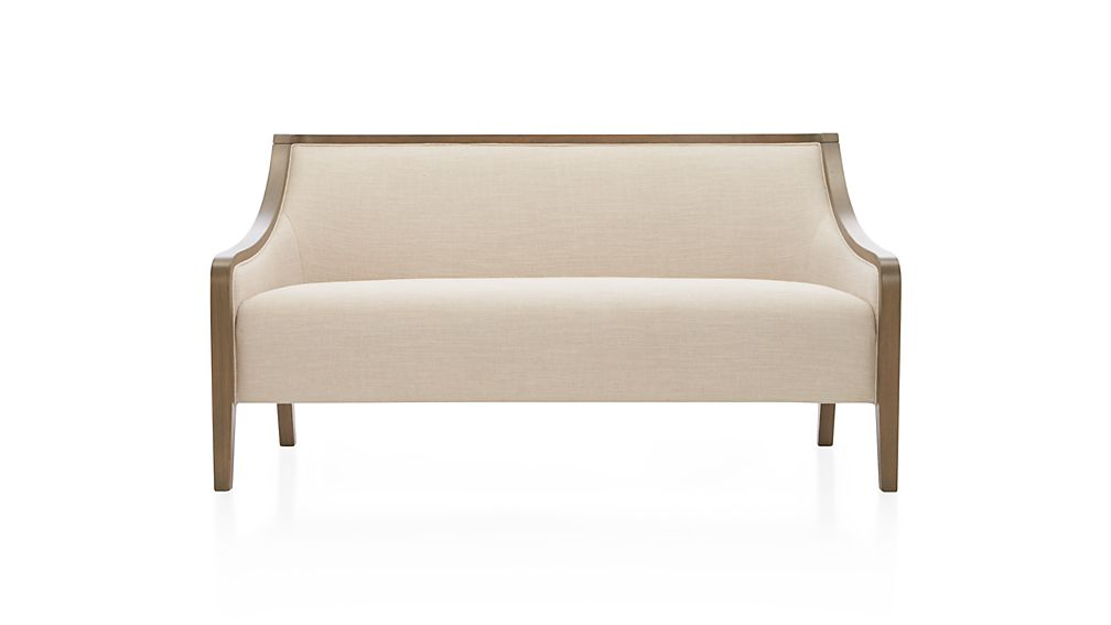 Bryn Linen Settee Sofa Crate and Barrel