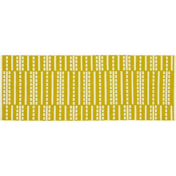 Bucato Yellow 2.5'x7' Runner