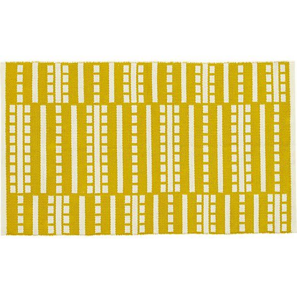 "Bucato Yellow 30""x50"" Rug"