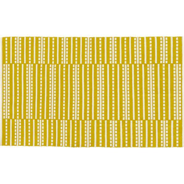 Bucato Yellow 5'x8' Rug