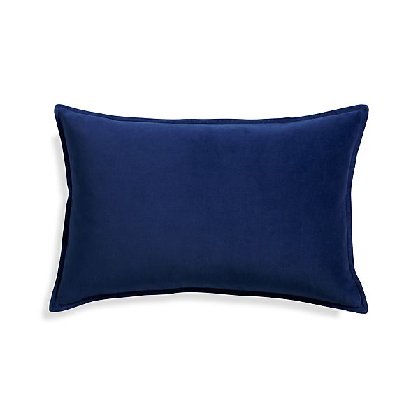 """Buckley Sapphire 24""""x16"""" Pillow with Feather-Down Insert"""