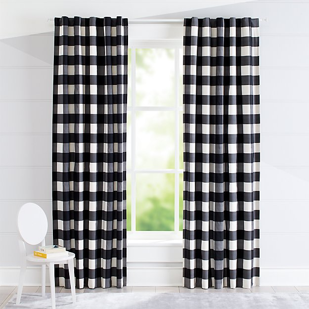 Black Buffalo Check Curtain