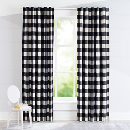 Black Buffalo Check Curtain Crate And