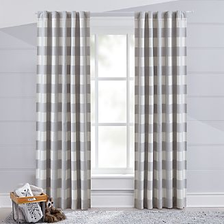 Grey Buffalo Check Blackout Curtain Kids