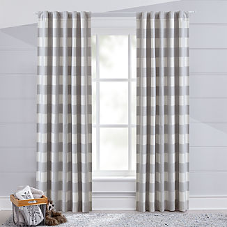 Grey Buffalo Check Blackout Curtain