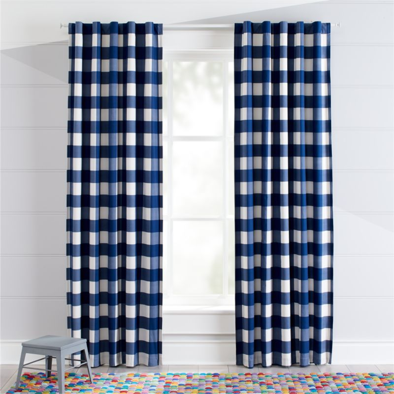Blue Buffalo Check Curtains Crate And Barrel