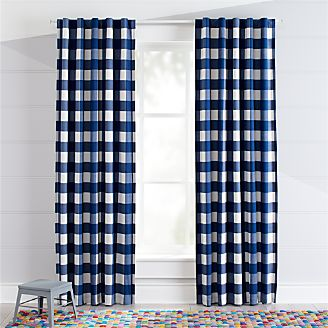 Blue Buffalo Check Blackout Curtains