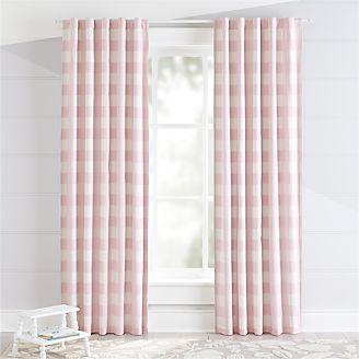 Pink Buffalo Check Blackout Curtains Kids
