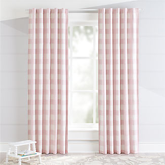 Pink Buffalo Check Blackout Curtains