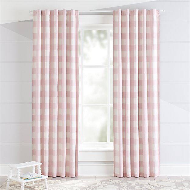Pink Buffalo Check Blackout Curtains - Image 1 of 9