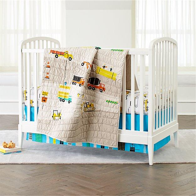 Baby Crib Bedding: Baby Crib Construction Print Crib Bedding