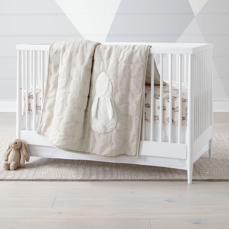 Hoppy Tails Bunny Crib Bedding Crate