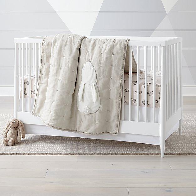 2bc00e12340a7 Hoppy Tails Bunny Crib Bedding