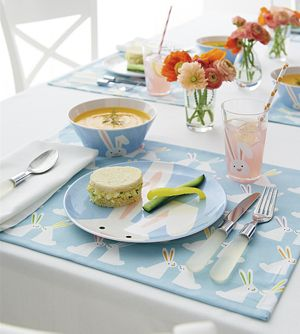 Easter Bunny 3-Piece Melamine Set