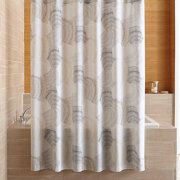 Burdett Dune Pattern Shower Curtain Reviews