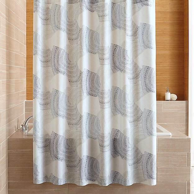 Burdett Shore Blue Pattern Shower Curtain Reviews
