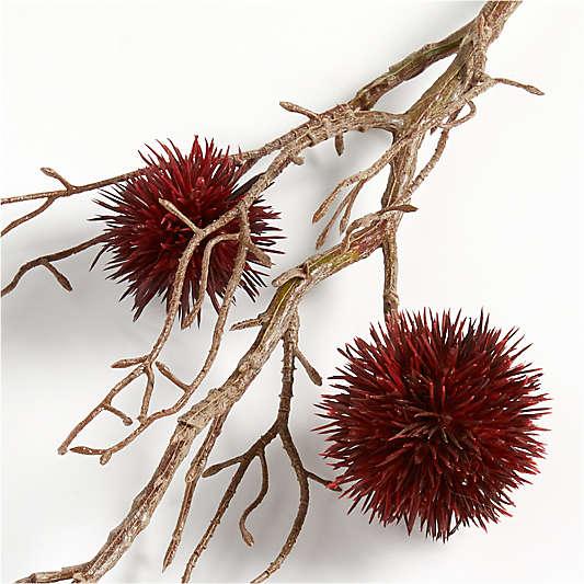 Artificial Burgundy Chestnut Stem