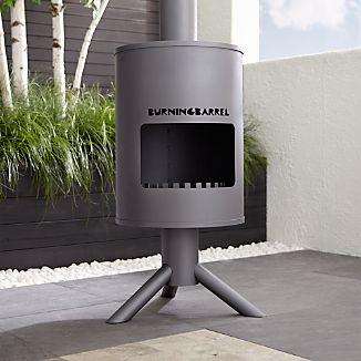 BurningBarrel Outdoor Fireplace