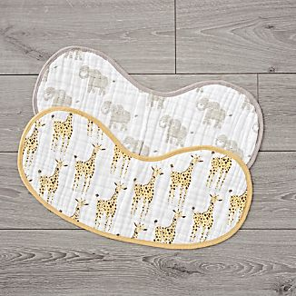 Aden Anais Safari Animal Burpy Bibs Set Of 2
