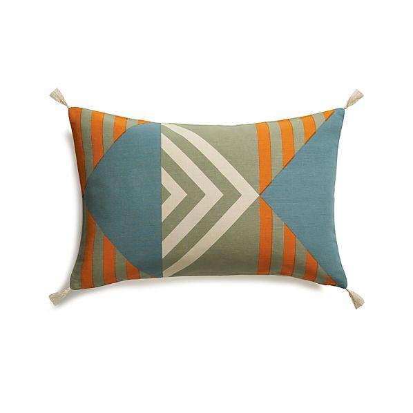 "Busani 24""x16"" Pillow with Down-Alternative Insert"