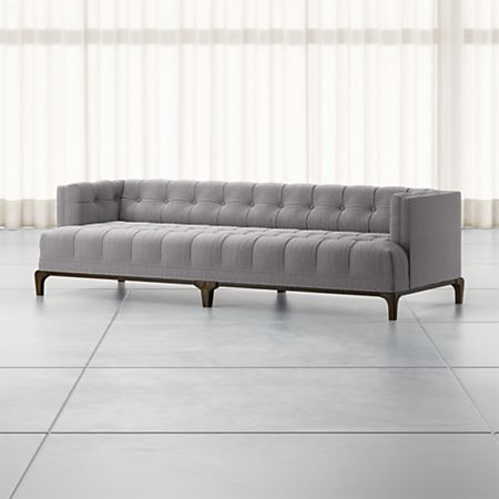 Enjoyable Byrdie Grey Modern Tufted Sofa Reviews Crate And Barrel Download Free Architecture Designs Scobabritishbridgeorg