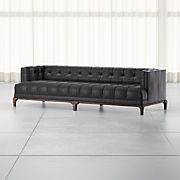 Enjoyable Leather Tufted Sofas Crate And Barrel Evergreenethics Interior Chair Design Evergreenethicsorg