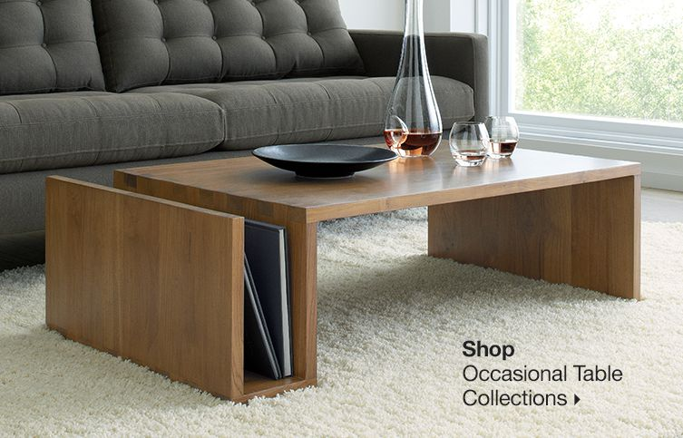 Tables coffee console end accent and side crate and barrel Modern coffee and end tables