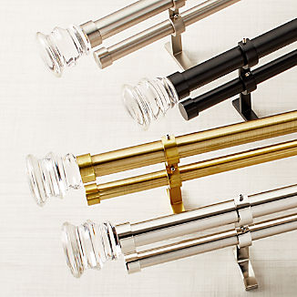 CB Newel Glass Finial and Double Curtain Hardware