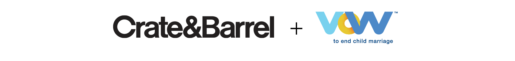 Crate and Barrel Vow to end child marriage