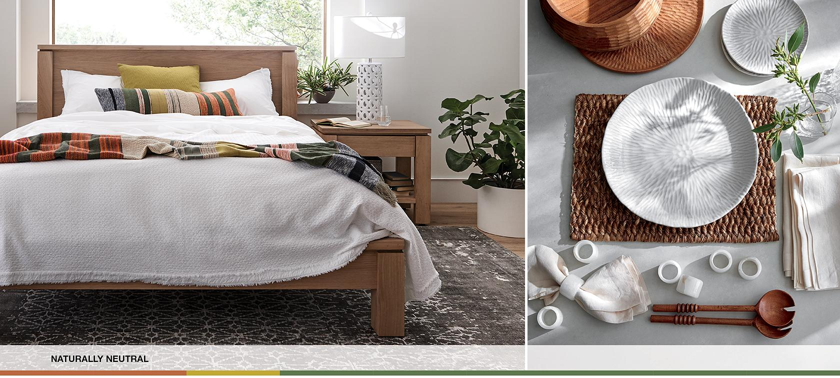 . Earthy Decorating Ideas   Crate and Barrel