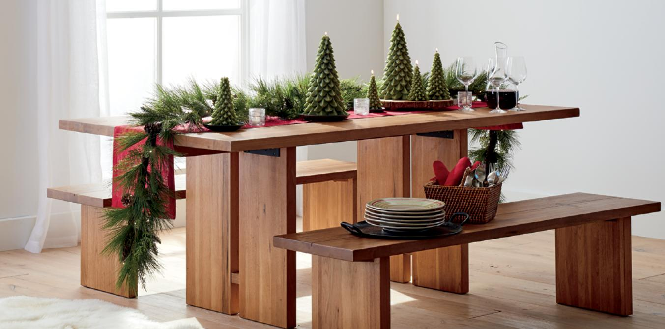 shop dining furniture - Crate And Barrel Christmas Decorations