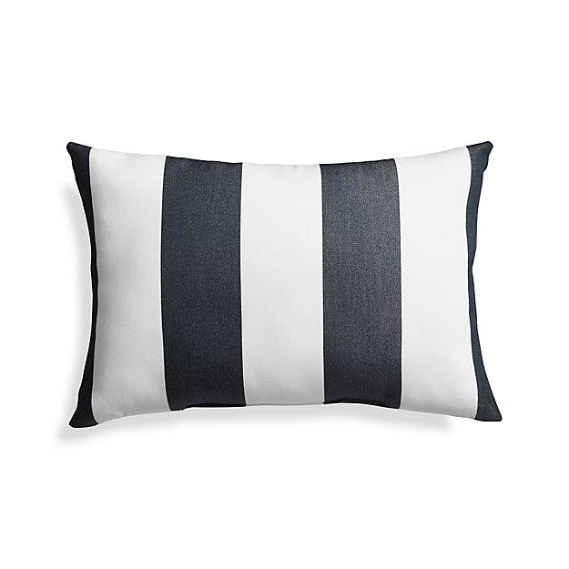 Sunbrella Cabana Stripe Outdoor Lumbar Pillow + Reviews | Crate And Barrel